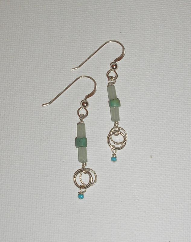 Turquoise Tube Earrings