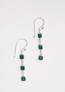 Crystal Cube Earrings