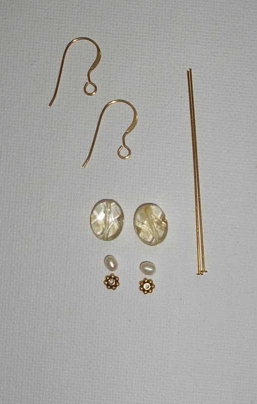 Citrine Bead Earrings