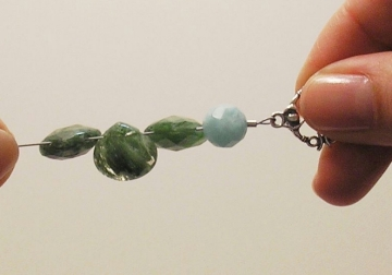 Photo of how to use crimp beads