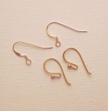 Photo of ear wires or fish hooks for making earrings