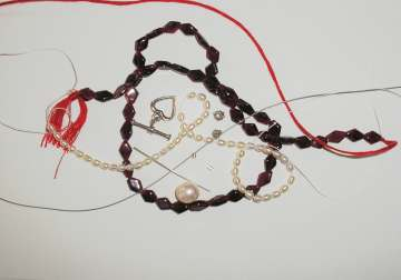 Garnet Pearl Bracelet