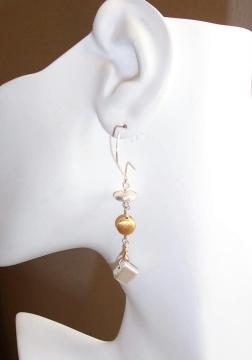 Geometric Bead Earrings