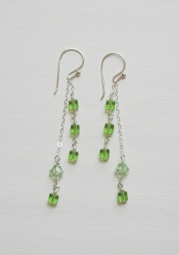 dangling chain crystal earrings project - Earring Design Ideas