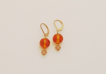 Lampwork Glass Bead and Crystal Earrings Project