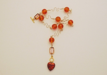Lampwork and Wirework Necklace Project