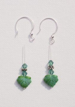 Leaf Bead Earrings Project