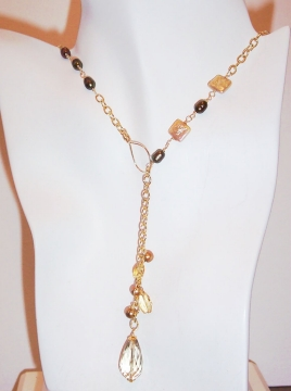 Lemon Quartz Lariat