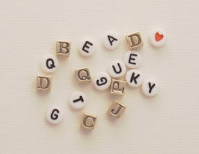 Photo of alphabet letter beads