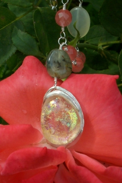 Photo of PMC and glass focal pendant bead