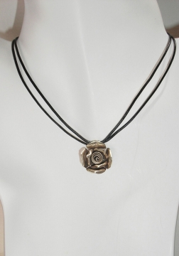 Hill Tribe Silver Rose Pendant