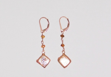 Tourmaline and Pearl Earrings