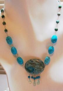 Turquoise Jasper Pendant