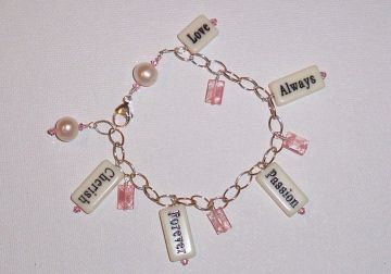 Word Bead Charm Bracelet Project