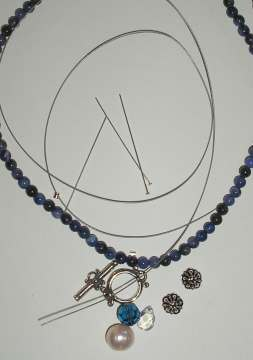 Sodalite Toggle Necklace