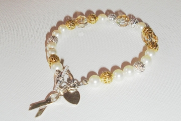 Gold and silver Awareness Bracelet