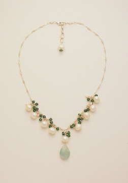 Pearl and Crystal Necklace Project
