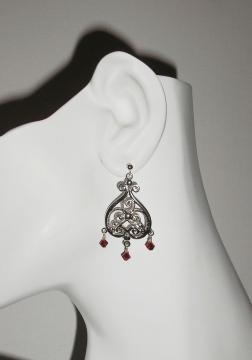Red Filigree Earrings