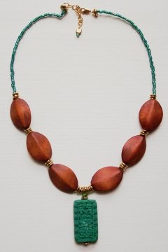 Wood Bead Necklace